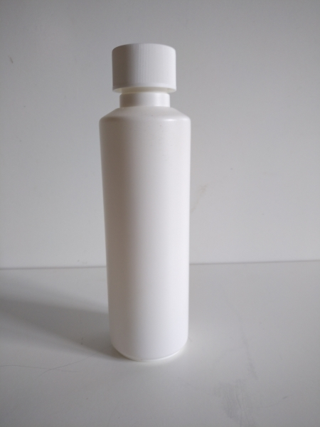 250 to 160ml bottle white with child-resistant closure