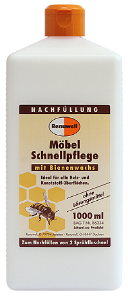 Renuwell furniture quick care with beeswax 1000ml